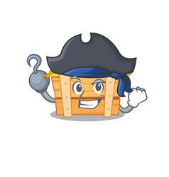 Cool banana fruit box in one hand pirate cartoon vector