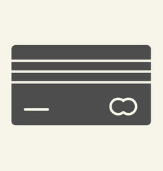 credit card solid icon plastic card vector image