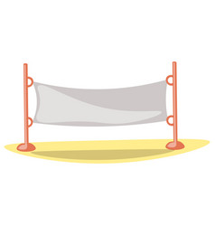 cute cartoon volleyball net vector image