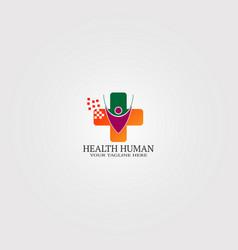 Digital health icon template logo technology vector