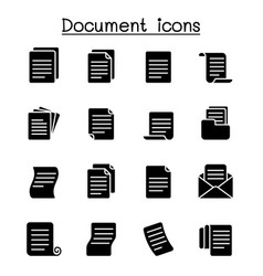 document icon set graphic design vector image