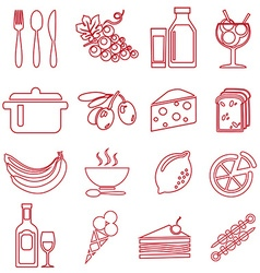 FoodRed vector image
