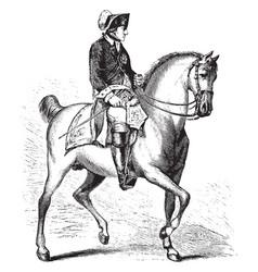 Frederick ii prussia on horseback vintage vector