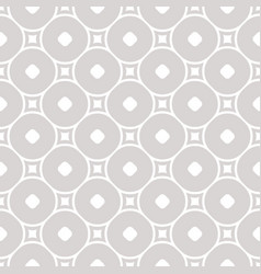 geometric pattern with squares and circless vector image