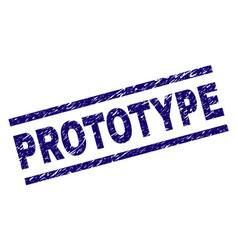 Grunge textured prototype stamp seal vector