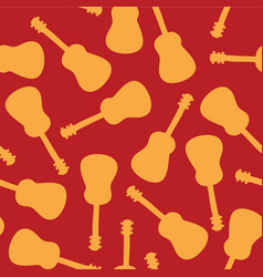 guitar silhouettes seamless pattern tile vector image