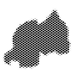Halftone dotted rwanda map vector