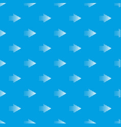 Halftone rigth arrow pattern seamless blue vector