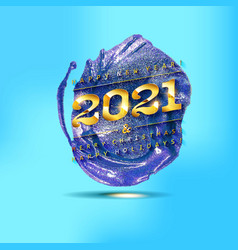 Happy new year to 2021 vector