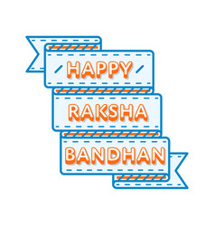 happy raksha bandhan day greeting emblem vector image
