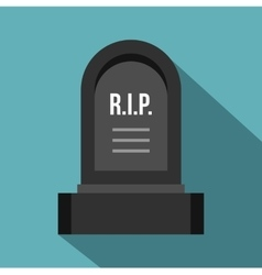 Headstone icon flat style vector