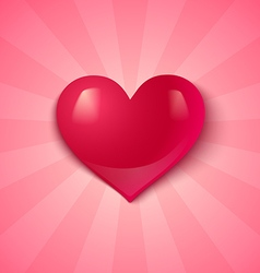 heart on pink background vector image