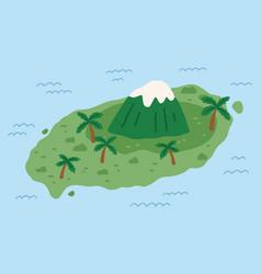 high mountain peak on remote korean island vector image
