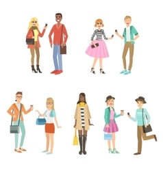 Hipsters And Modern Fashion Trends Set vector image