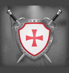 Historical montenegrin flag shield vector