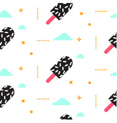 ice cream seamless pattern 90s style vector image