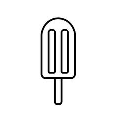 Ice lolly icon linear logo ice cream on stick vector