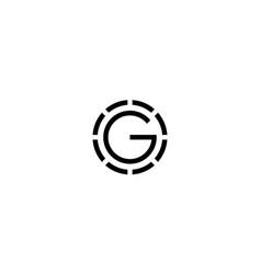 Initial o and g logo design concept vector