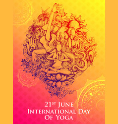 International yoga day on 21st june vector