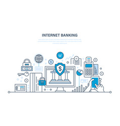 Internet banking payment security finance vector