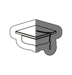 Isolated graduation cap design vector image