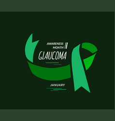 January is glaucoma awareness month vector