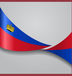 Liechtenstein wavy flag vector