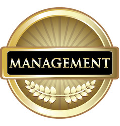 Management gold label vector