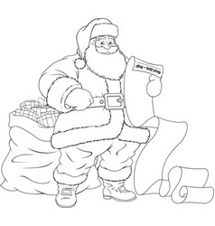 Merry santa claus vector