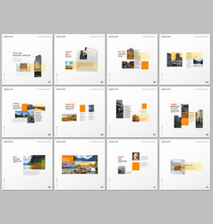 Minimal brochure templates with yellow color vector