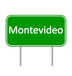 Montevideo road sign vector