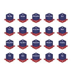 music theme retro label sticker vector image