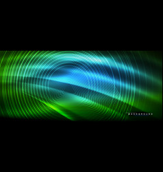 Neon glowing lines magic energy space light vector
