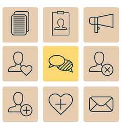 network icons set collection of insert internet vector image