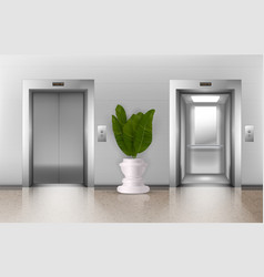 office elevators vector image