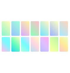 Pastel gradient set beauty turquoise soft vector