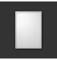 Picture frame mockup vector image