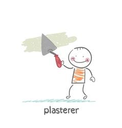 plasterer works vector image