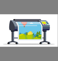 plotter printer large format vector image