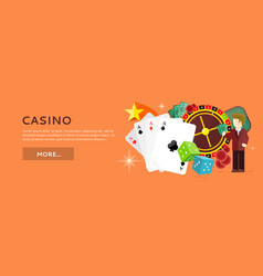 Roulette wheel coin dice money chip star isolated vector