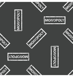 Rubber stamp MONOPOLY pattern vector