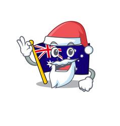 Santa flag australia isolated in mascot vector