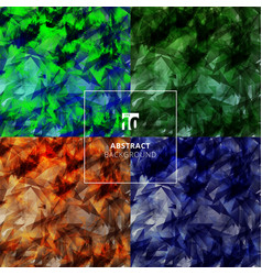 set abstract geometric grunge background vector image