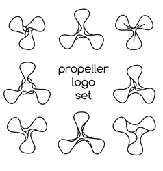 Set of logos on white background vector image