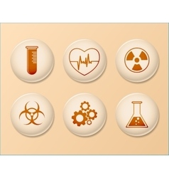 Set of Science Icons Linear Design vector