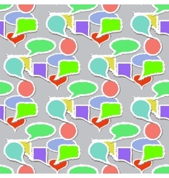 Speech Bubbles Pattern Stickers Background vector image