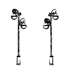 Street lamp icon image vector