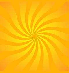 sun rays background yellow orange radiate vector image