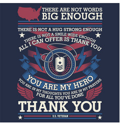 thank you veteran - american vector image