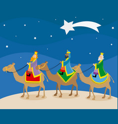 the three wise men of orient vector image